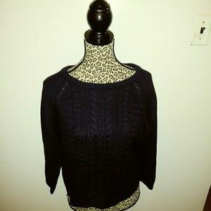 Jcrew Thick Knit Sweater Crop